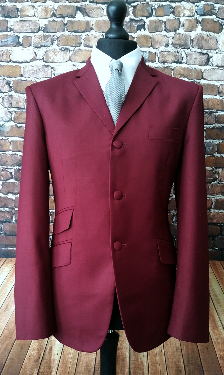 """Granville"" Three Button Berry Suit"